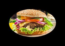 Burgers hamburgers pains graines de sésame garnis de salade  pizza burger Evreux 27 Pont l'évêque 14 pb, pizza, burger, restauration rapide, rapide, basse normandie, haute normandie, normandie