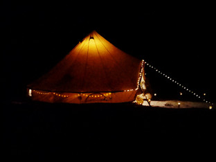 our glamping tent