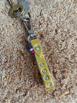 Porte-clef classique - Or jaune