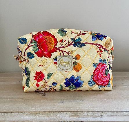 Trousse de toilette rectangle - Jaune fleurs