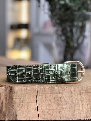 Anse à l'unité - Croco metal olive