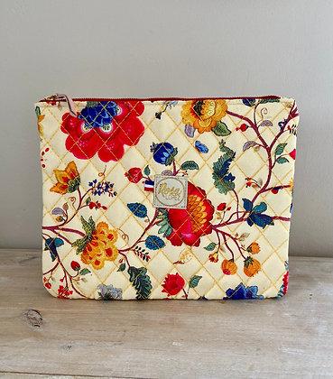 Pochette Ipad mini - Jaune fleurs