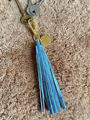 Pompon - Métalisé bleu ciel