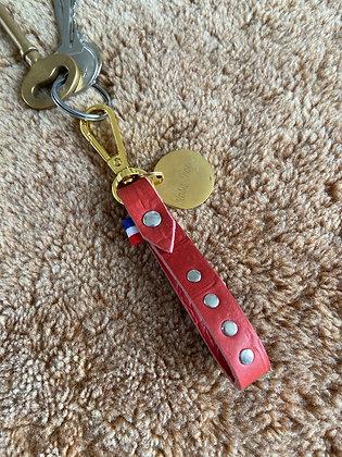 Porte-clef classique - Croco brique