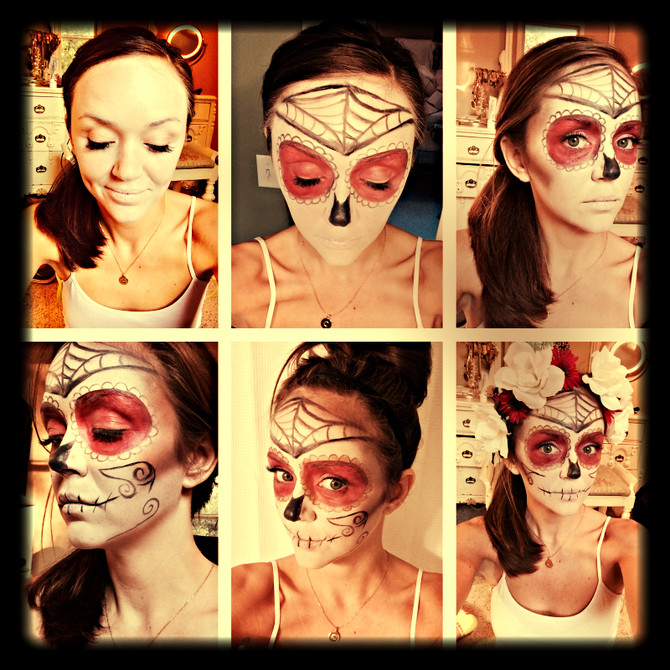 """Simple """"Day of the Dead"""" Make-up, Continued"""