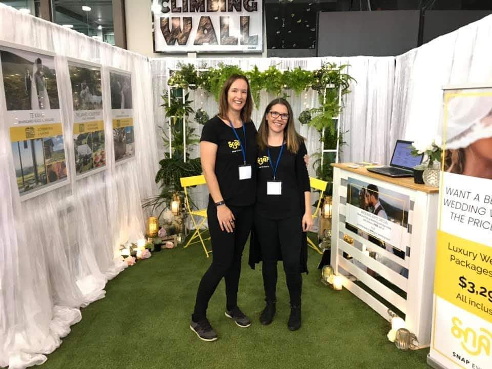 Kaz and Sarah at the Northland Wedding Expo 2019