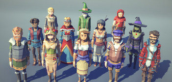Low polygon Characters