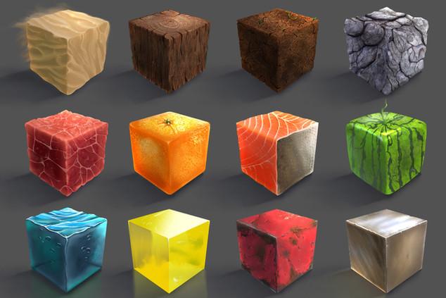 3D Material Stones