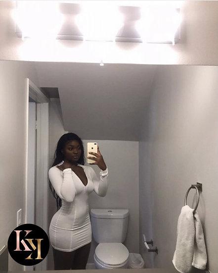 Full Sleeve Zipper Bodycon Dress