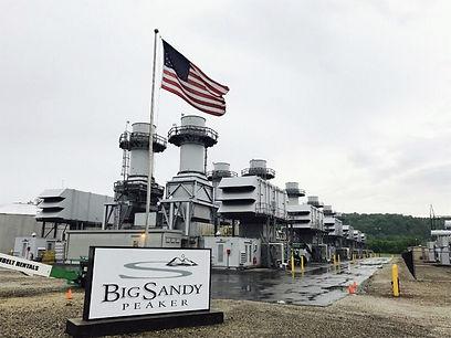 Big Sandy Peaker 12 x FT8 G-Turbines driving six Brush generators