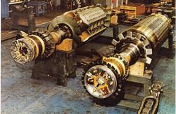 2&4pole rotors side by side
