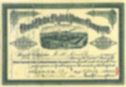 1884 Share Certificate - Helena MT