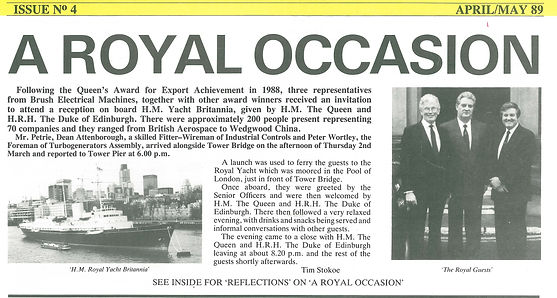 Trip to the Royal Yacht Britania to collect Queen's Award