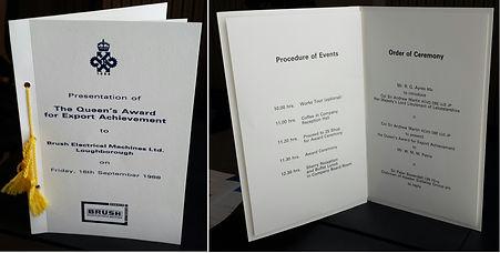 1988 Queens Award - Program