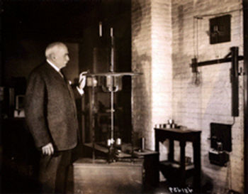 1920 Charles Brush with Arc lamp