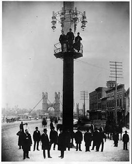 1882 Upton Island Hydro powered light tower