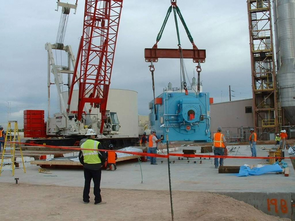 70MW GT driven - lift to foundations