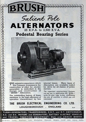 1964 Brush engine driven generators Ad