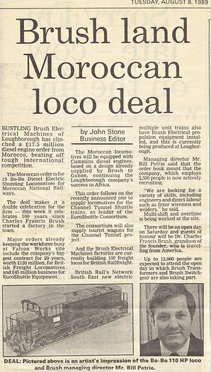 Aug1989 Brush secures Morocco Contract