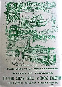 1892 Railway World Ad - Tramcars