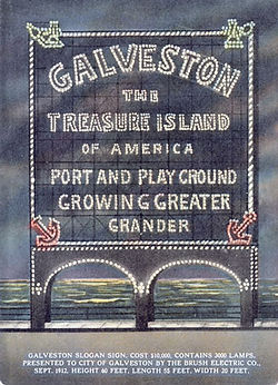 1912 Galveston Electric sign - largest in America