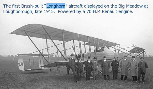 1915 - Longhorn aircraft on The Meadows