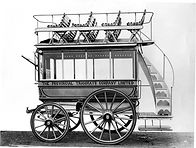 1890 Early horse drawn double decker omnibus