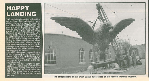 "1989 - Brush Falcon ""budgie"" being refurbished at Crich Tram museum"
