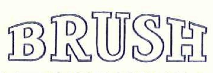 1964 Brush Logo