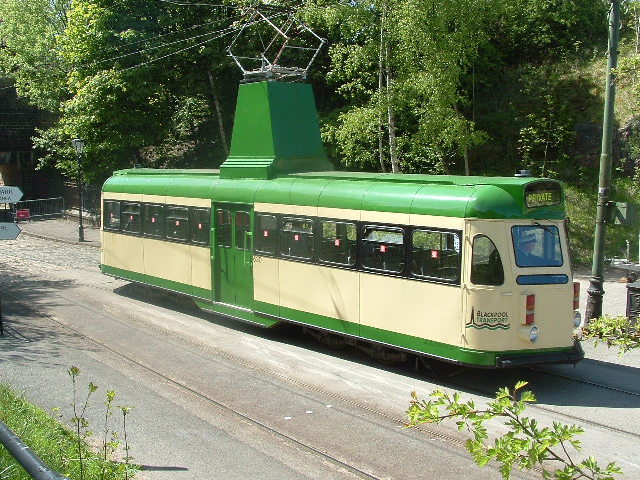 Blackpool 1937 - Brush Car No. 630 at the National Tramway Museum, Crich, Derbyshire