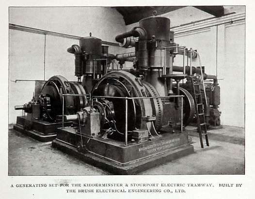 1908 Kidderminster & Stourport electric Tramway generators