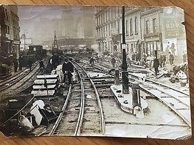 London tram lines installation 1