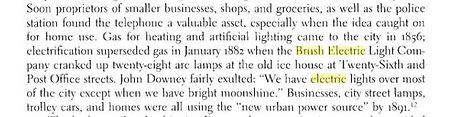 1882 Brush lighting comes to Galveston, Texas.