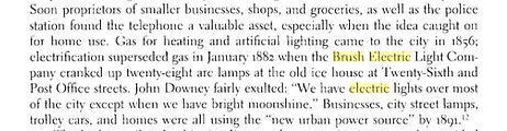 1882 Brush lighting comes to Galveston, Texas.