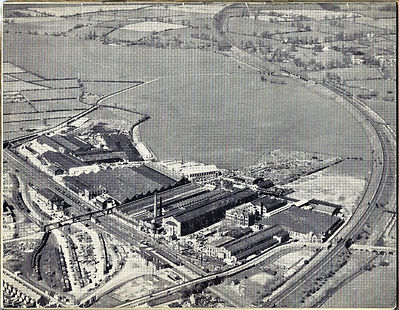 1949 - Overhead view of Loughborough Works