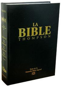 BIBLE THOMPSON VERSION NBS RIGIDE NOIR
