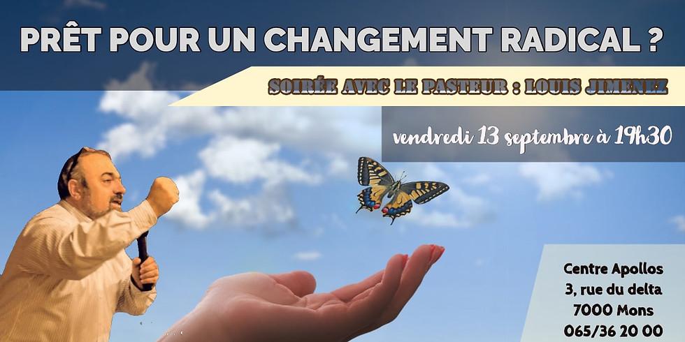 retour pour un Changement Radical - Louis Jimenez - Mons