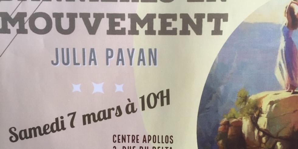 Bannières en mouvement avec Julia Payan
