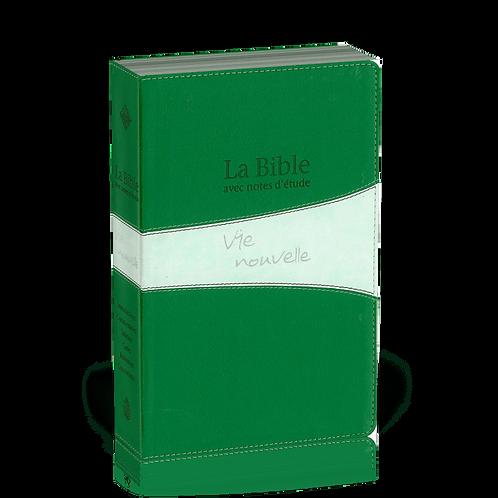 Bible d'étude Vie nouvelle, Segond 21, duo verte - couverture souple