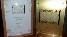 Derbyshire Life Food & Drink Awards - Best Dining Pub Winner 2016