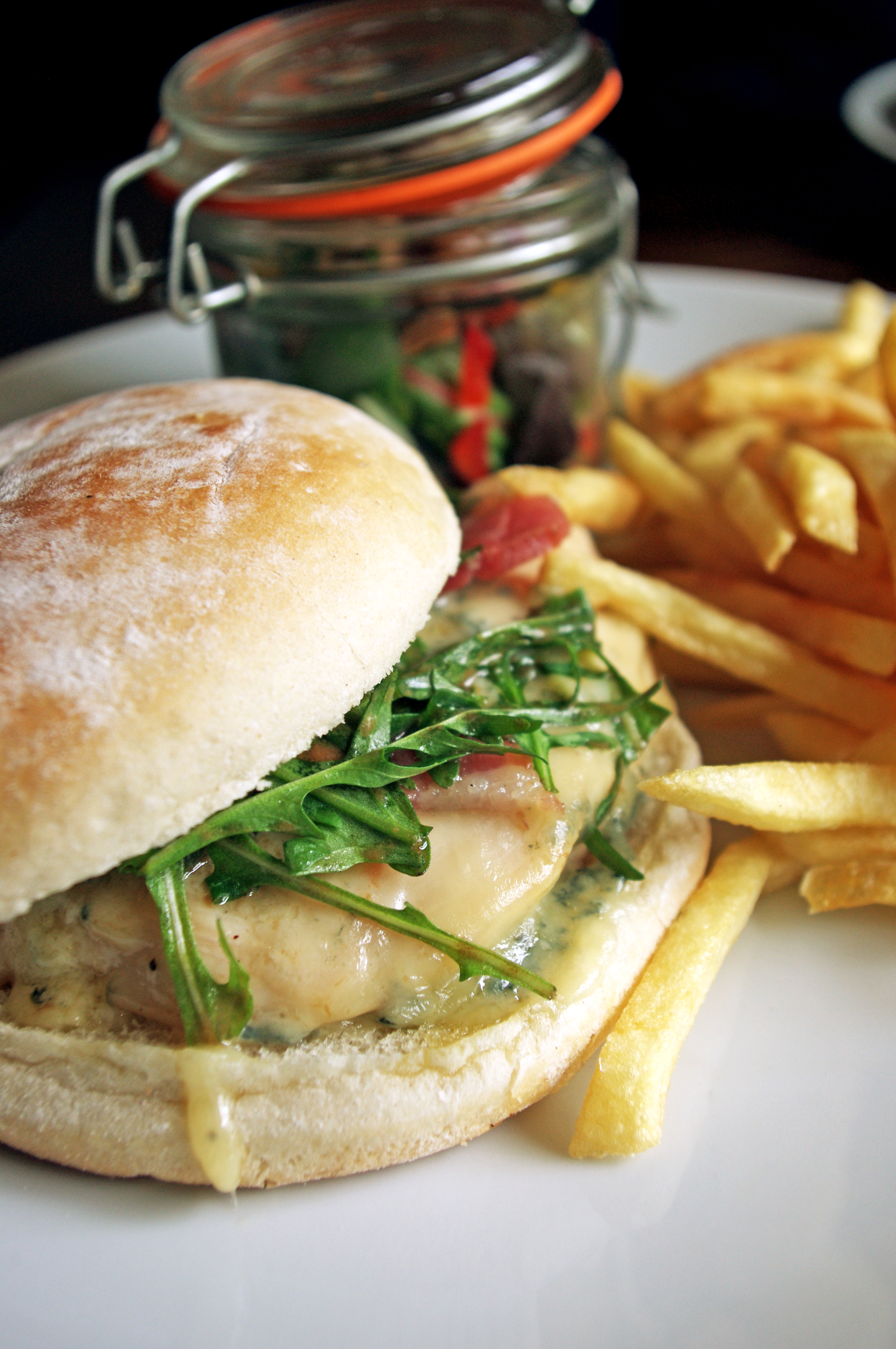 Chicken Burger With Bacon & Cheese