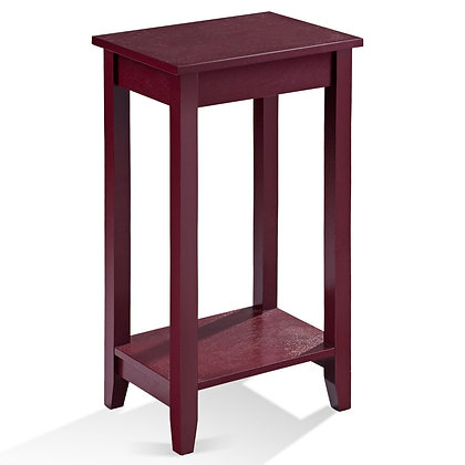 Tall wooden end table