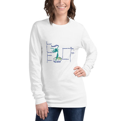 Imagine Tiny Living with Attributes White Long Sleeve Tee