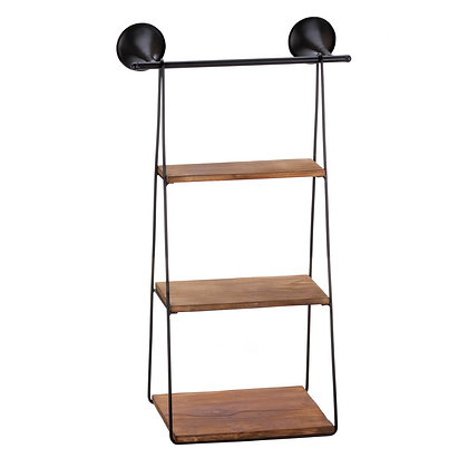 hanging wall shelf with 3 shelves