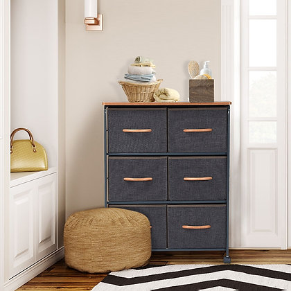portable storage cabinet, 6 cloth drawers