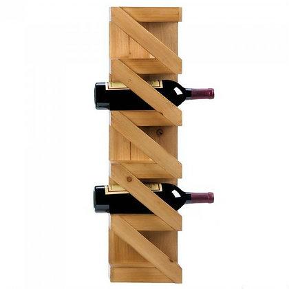 zig- zag wooden wine rack, holds 5 bottles