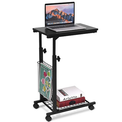 Rolling computer table