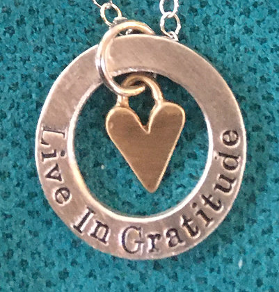 Live In Gratitude disc With A Beautiful Bronze Heart