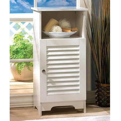 small cabinet with closing door and shelf