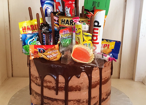 Overload Naked Cake 15 cm - Sweets oder Chocolate